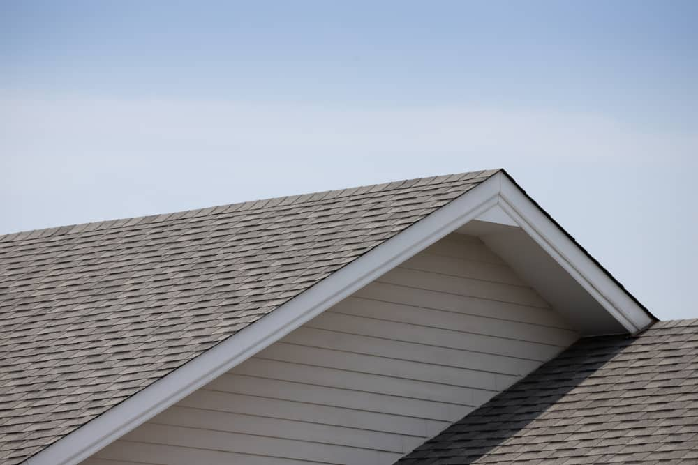 View of the shingles of a residential house